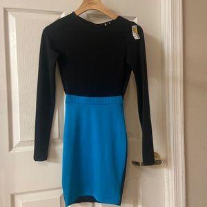 NWT long sleeve Bodycon Open Back Dress